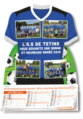 calendrier maillot foot personnalisable 26082011114138