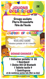 Modèle ticket à gratter associations