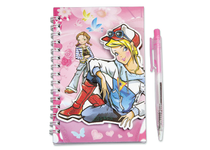 Lot de 12 carnets fashion line