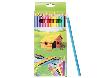 Lot de 24 sets de 12 mini crayons