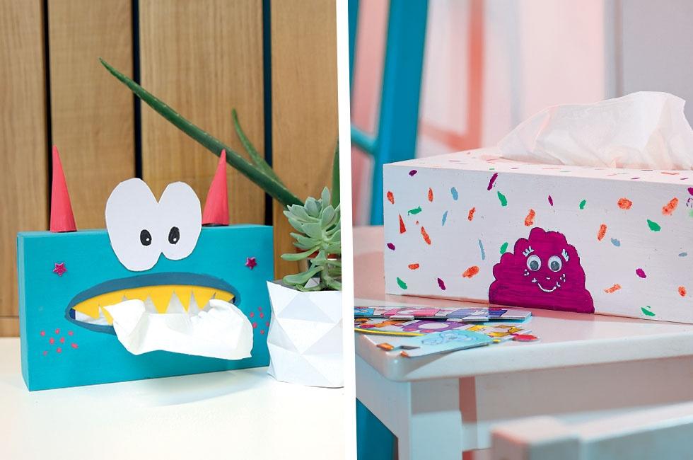 pas cher grande variété de modèles handicaps structurels Boîte à mouchoirs à décorer - Initiatives Créations des enfants