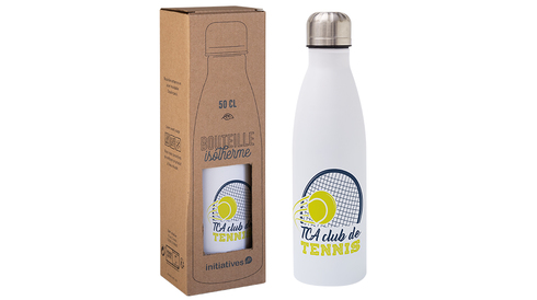 Bouteille isotherme 50cl blanc digital