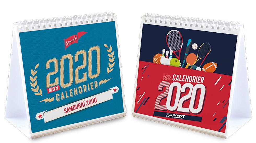 Mon Calendrier Fr.Calendrier Chevalet Photos Sport 2020 Initiatives Sport