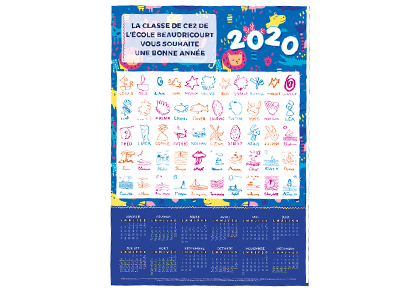 Calendrier 2020 Vectoriel Gratuit.Calendriers 2020 Initiatives Creations Des Enfants