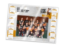 Calendrier photo sous-main plastifié