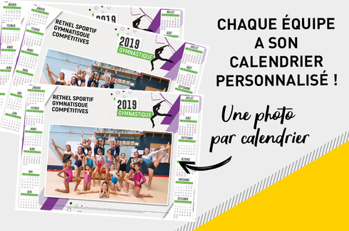 Calendrier photo sous-main plastifié 3