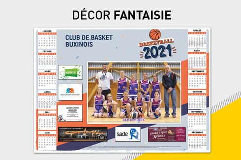Calendrier photo sous-main sponsors 5