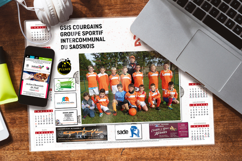 Calendrier photo sous-main sponsors 2