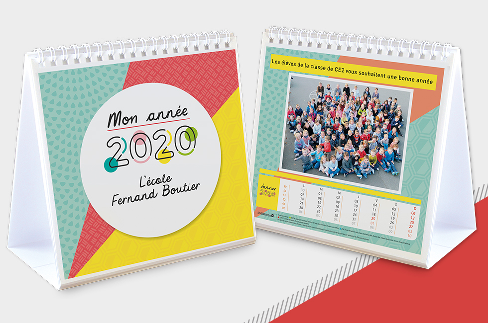 Initiatives Calendrier.Calendrier Photos Chevalet Ecole 2020 Initiatives Calendriers