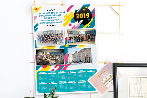 Calendrier Scolaire 2019 18 A Imprimer.Calendrier Photos Ephemeride Imprimee 2019 Initiatives