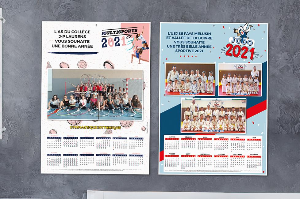 Calendrier Des Sportifs 2021 Calendrier 2021 Photos CLUB éphéméride imprimée   Initiatives Sport