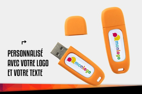 Clé USB 16 Go orange personnalisable 3