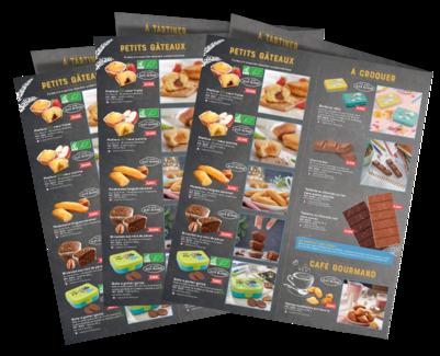 Des catalogues à distribuer aux participants