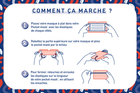 Les Pocket' mask et clip de confort 5