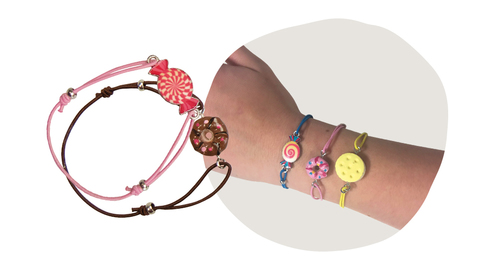Lot de 12 bracelets gourmandises