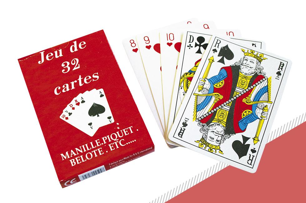 jeu de carte a 2 32 cartes Lot de 12 jeux de 32 cartes   Initiatives Fêtes et Kermesses