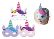 Lot de 12 masques licorne