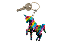 Lot de 12 porte-clés licorne sequin