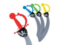 Lot de 12 sabres de pirate