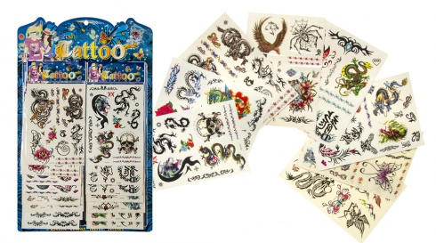 Lot de 16 tatouages