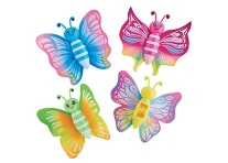 Lot de 24 papillons sticky