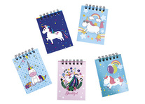 Lot de 36 mini carnets licorne