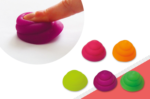 Lot de 50 cacas fluo squishy 2