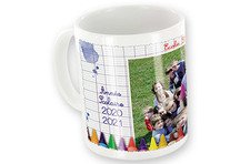 Mug Blanc Photo Logo École