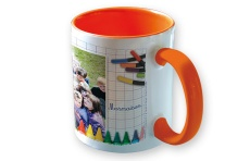 Mug Orange Photo Logo Ecole