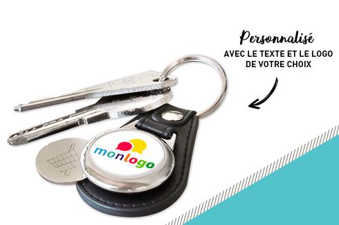 Les porte-clés cuir jeton personnalisé - Initiatives Sport f907de2f332