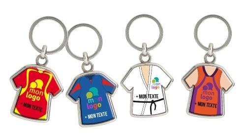 Porte-clés métal maillot personnalisé - Initiatives Sport a1537f5f377