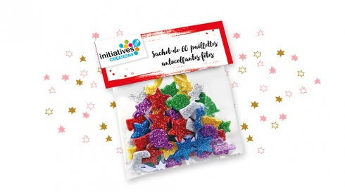 Lot de 6 sachets de paillettes
