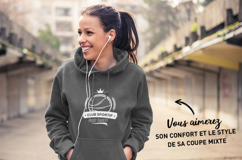 Sweat Anthracite chiné 1