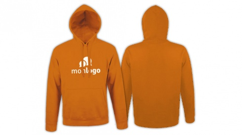 Sweat orange à personnaliser