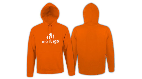 Sweat ORANGE impression 1 couleur