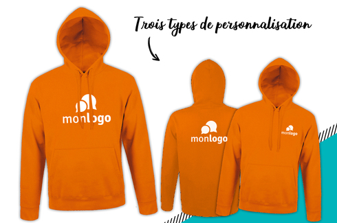Sweat orange à personnaliser 3