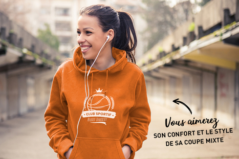 Sweat orange à personnaliser 2