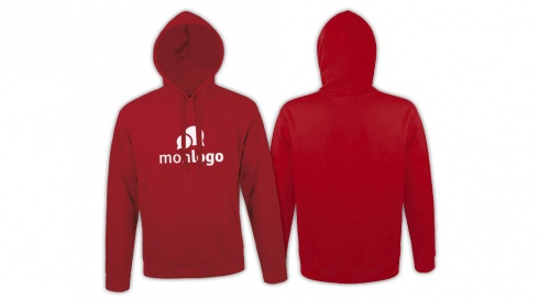 Sweat ROUGE impression 1 couleur