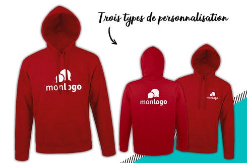 Sweat rouge à personnaliser 3
