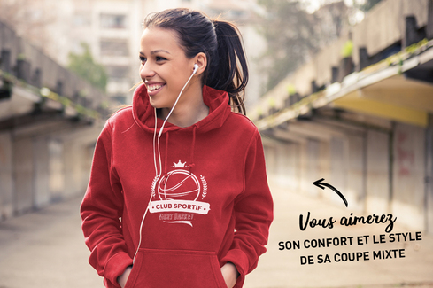 Sweat rouge à personnaliser 2
