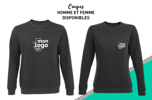 Sweat col rond ANTHRACITE 2