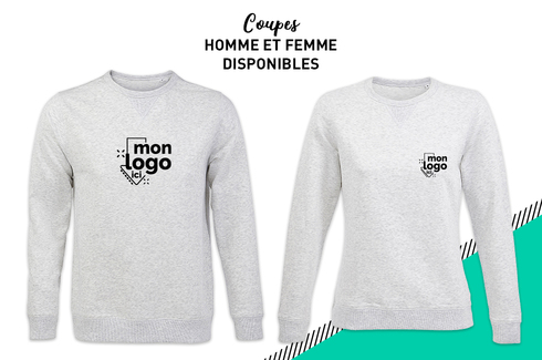 Sweat col rond BLANC CHINÉ 2