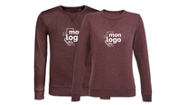 Sweat col rond BORDEAUX CHINÉ