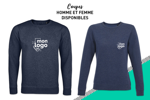 Sweat col rond DENIM CHINÉ 2