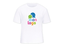 Tee-Shirt Blanc impression multicolore