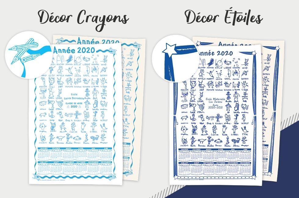 Initiatives Calendrier.Torchon Calendrier Classique Initiatives Creations Des Enfants