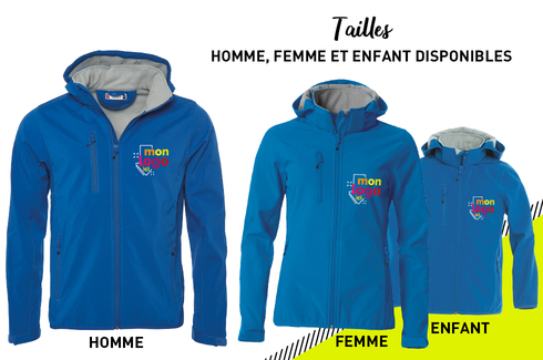 Veste softshell BLEU ROYAL 3